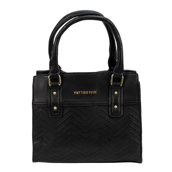 Bolsa-Pequena-Lisa-Com-Textura-em-Couro-Sintetico-e-Costura-preta